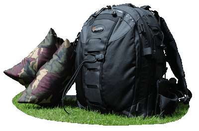 backpack with bag attached